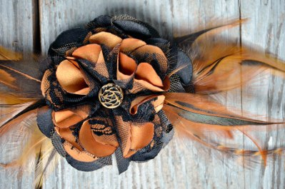 Curry Shayde Handcrafted Leather n Lace Fascinators by Catfight Craft