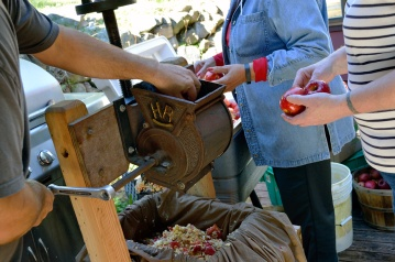 Apple Pressing 2015 Grinding Apples