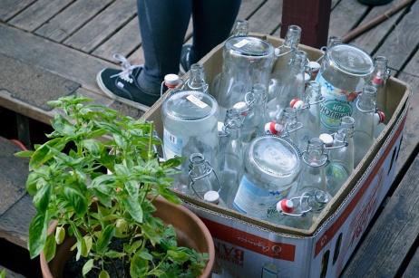 Apple Pressing 2015 Juice Bottles
