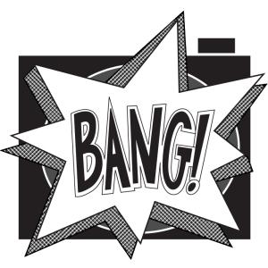 Pistol Pix BANG! Logo